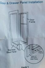 SUB ZERO 7007216  Stainless Steel Glass Door Panel with Tubular Handle
