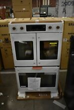 GE Cafe CTD90FP4MW2 30  Matte White Double Electric Wall Oven NOB  49585 HRT