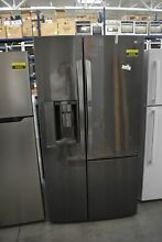 LG LSXS26366D 36  Black Stainless Side by Side Refrigerator NOB  49842 HRT