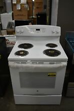 GE JB258DMWW 30  White Free Standing Self Clean Electric Range  45923 HRT