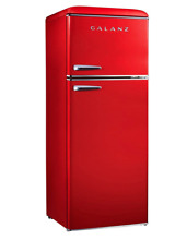 Galanz 7 6 cu  ft  Mini Refrigerator in Red   Free Shipping