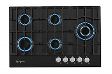 Empava 5 Italy Sabaf Burners Gas Stove Cooktop Black Tempered Glass 30 Inch