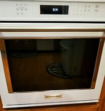 KitchenAid KOSE500EWH04 30  Single Electric Wall Oven W Convection   PRE OWNED