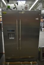 KitchenAid KBSD608ESS 48  Stainless Built In Side By Side Refrigerator 44313 MAD