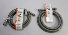Stainless Steel Braided Ice Machine Connector 1 4 x1 4 x60  lot of 2
