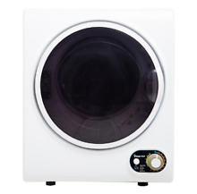 Compact Electric Dryer Space Saver Laundry 1 5 cu  ft  Apartments Dorms White
