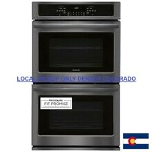 Frigidaire 30  Double Electric Wall Oven Self Cleaning in Black Stainless Steel
