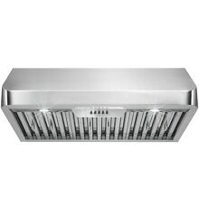 36  Ducted Under Cabinet Range Hood with LED Lights in Stainless Steel