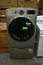GE GFD65ESPNSN GFP1528P 28  Stain Nickel FL Electric Dryer  Pedestal Set NOB HRT