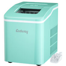 Portable Ice Maker Machine Countertop 26Lbs 24H Self cleaning w  Scoop Green