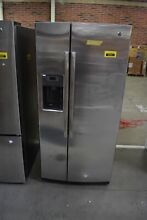 GE GSS23GSKSS 33  Stainless Side By Side Refrigerator NOB  34091 CLN