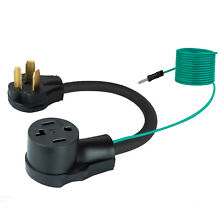 Dryer Adapter Plug Cord 4 Prong to 3 Prong 14 30P Male to 10 30R Female Connect
