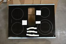 GE PP9830SJSS 30  Black w  Stainless Trim Downdraft Electric Cooktop NOB  101422