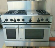 GE MONOGRAM ZDP48N6DD 48  DUAL FUEL RANGE  6 GAS BURNERS   GRIDDLE