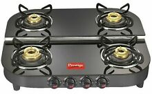 Prestige Gas Oven Royale Plus Duplex Glass Plate Stainless Steel Black Color