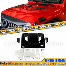 Desert Storm Style Metal Hood With Air Vents For 2018 2021 Jeep Wrangler JLU JL