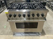 Viking VDR5366BSS 36 Inch Freestanding Dual Fuel Range with TruConvec