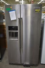 KitchenAid KRSF505ESS 36  Stainless Side By Side Refrigerator  107508