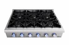 Thor Kitchen HRT3618 Grill Pro Style 36  Gas Rangetop with 6 Sealed Burners