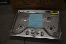 Whirlpool WCG51US0DS 30  Stainless Gas 4 Burner Cooktop NOB  38596 MAD