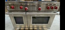 WOLF DF484 CG 48  DUAL FUEL RANGE 4 BURNERS W INFRARED CHARBROILER GRIDDLE