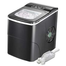 Ice Maker Machine for Countertop  Portable Ice Cube Makers  Make 26 lbs Black