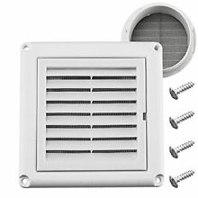 Funmit 4  Louvered Vent Cover Stops Birds Nesting for Outside Dryer Exhaust A