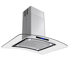 36  Kitchen Island Mount Stainless Steel Range Hood w  Mesh Vent