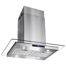 GTC Europe 30  Kitchen Glass Stainless Steel Island Range Hood Vent