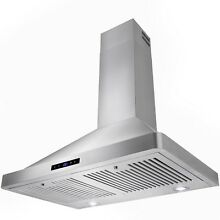 30  Stainless Steel Wall Mount Range Hood Chimney Cooking Vent Fan