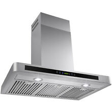 36  Kitchen Wall Mount Stainless Steel Range Hood with 3 Baffle Filters Stylish
