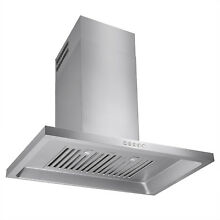 30  STAINLESS STEEL WALL MOUNT VENTLESS RANGE HOOD w  LED LIGHTS TOUCH BUTTON