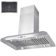 36  Island Mount Stainless Steel Range Hood Stove Vent Exhaust Fan Ductless
