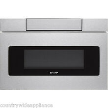 Sharp Insight Stainless 24  Microwave Drawer LCD Display SMD2470AS  SMD2470ASY