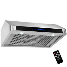 36  Stainless Steel Under Cabinet Range Hood Touch Panel Kitchen Remote Control