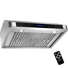 36  Stainless Steel Under Cabinet Touch Panel Kitchen Remote Control Range Hood