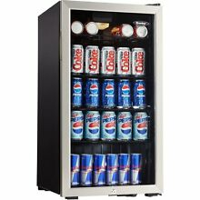 NEW COMMERCIAL 120 CAN GLASS DOOR REFRIGERATOR Mini Fridge Beverage 3 3 cu  ft