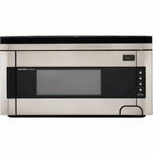 Sharp R 1514 1 1 2 Cubic Foot 1000 Watt Over the Range Microwave  Stainless New