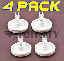 4 PACK NEW 775043 DISHWASHER LOWER RACK WHEEL   CLIP FITS FRIGIDAIRE KENMORE