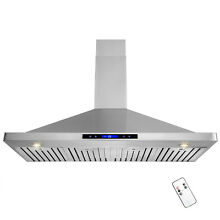 48  Stainless Steel Kitchen Range Hood Wall Mount Touch Screen Remote Control