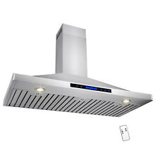 48  Stainless Steel Wall Mount Range Hood Touch Screen Display Kitchen