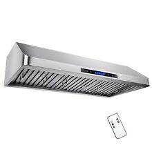 48  Under Cabinet Stainless Steel Remote Control Kitchen Range Hood Touch Screen