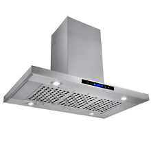 36  Island Mount Range Hood Stainless Steel Touch Screen Cooking Fan