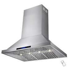 48  Stainless Steel Dual Motor Touch Screen Island Mount Range Hood