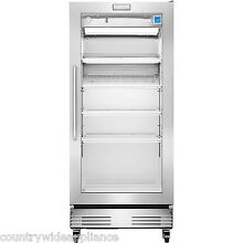 Frigidaire Commercial Stainless 17 9 cf Glass Door Front Refrigerator FCGM181RQB