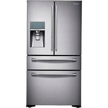 SAMSUNG Stainless Steel French 4 Door Counter Depth Refrigerator RF24FSEDBSR
