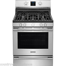 Frigidaire PROFESSIONAL Stainless 30  Gas Range Rear Controls FPGF3077QF