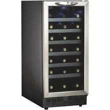 Danby 34 Bottle Built In Wine Cooler DWC1534BLS Wine Cooler 24 8  x 15  x 34 2