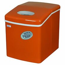 NewAir AI 100VO 28 lbs Portable Ice Maker with Ice Scoop Orange   NEW