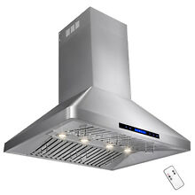 36  Stainless Steel with Touch Screen Cooking Fan Stove Wall Mount Range Hood